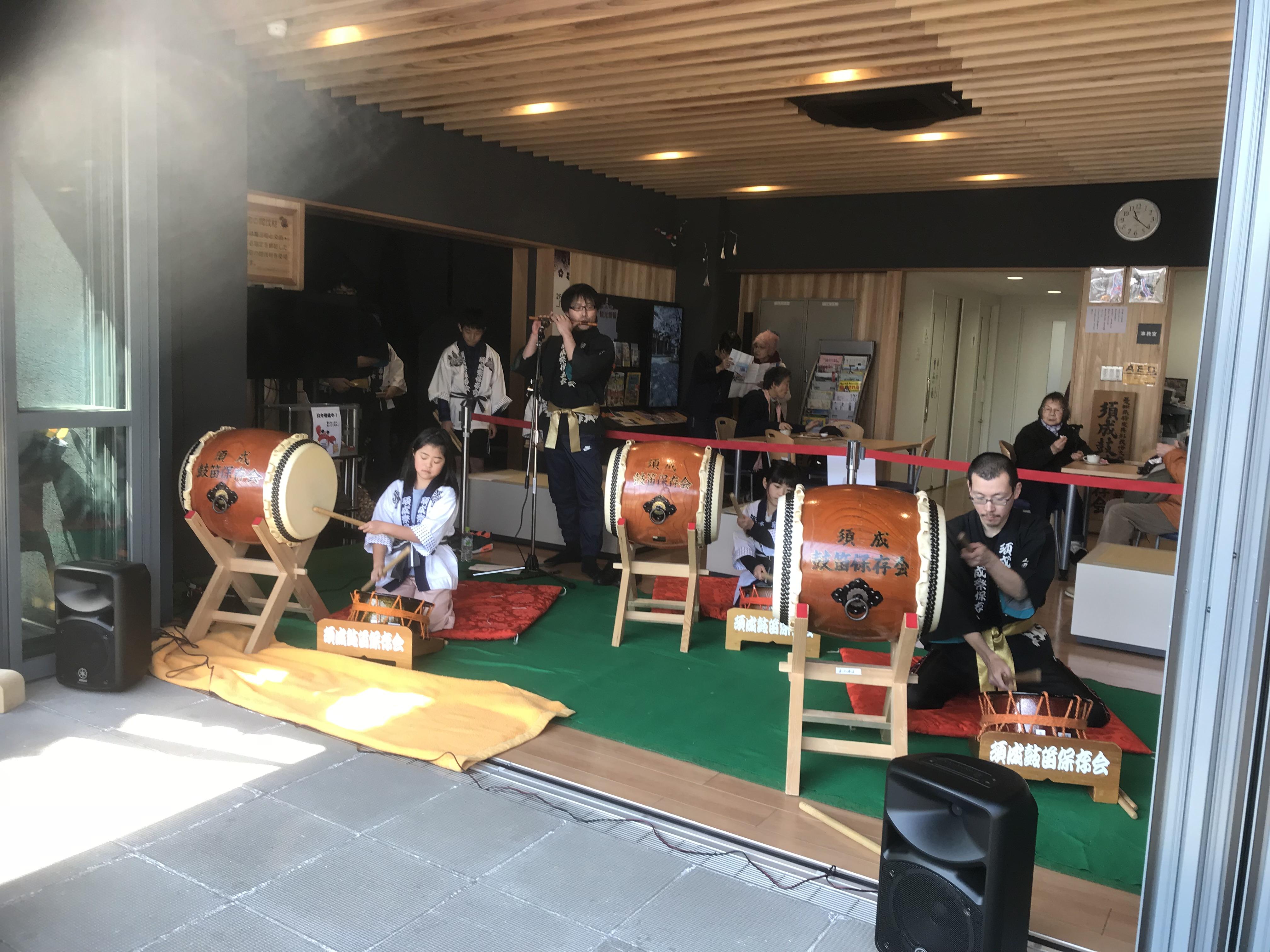 2月17日の鼓笛保存会さんの演奏の様子です!