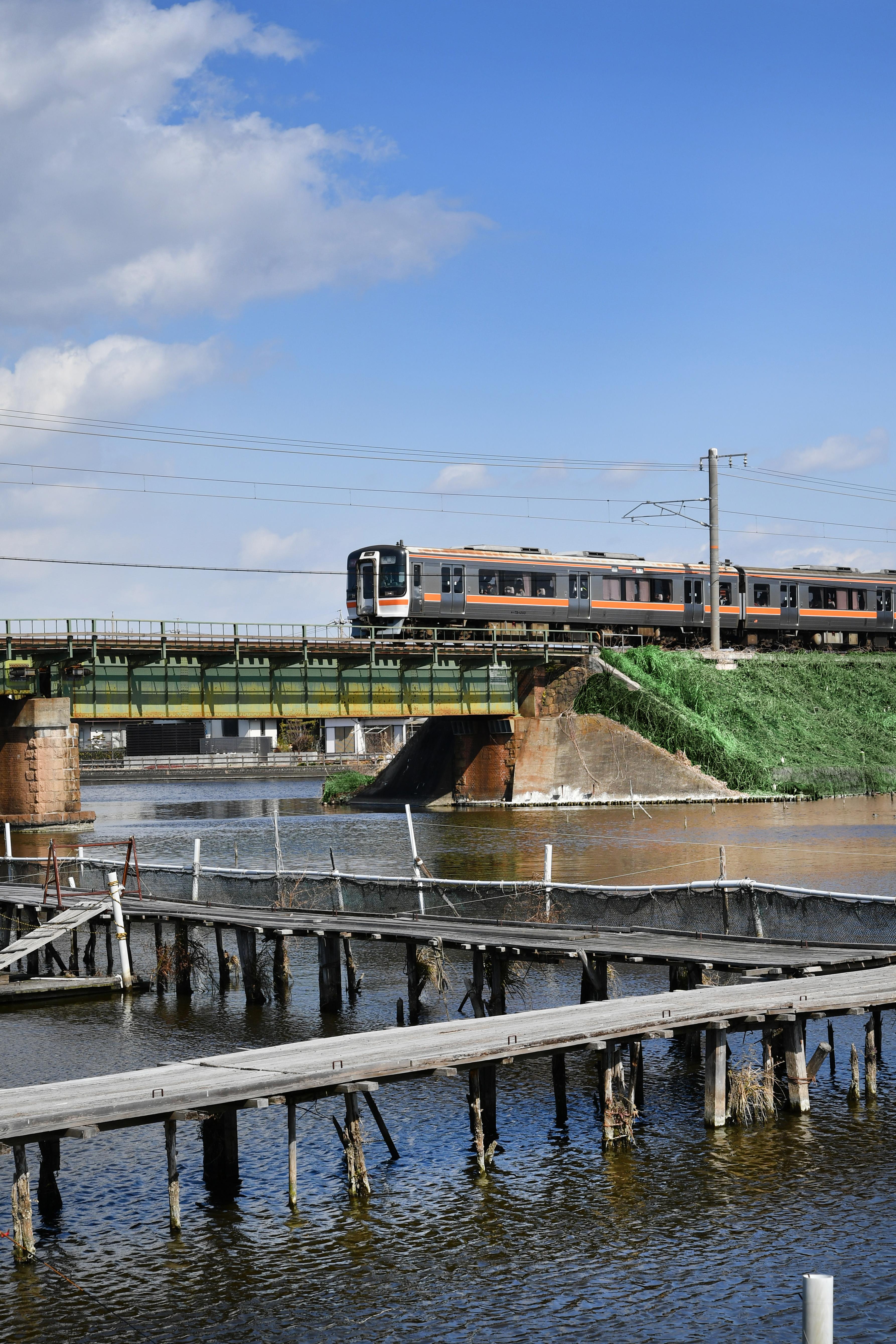 釣り堀と鉄道