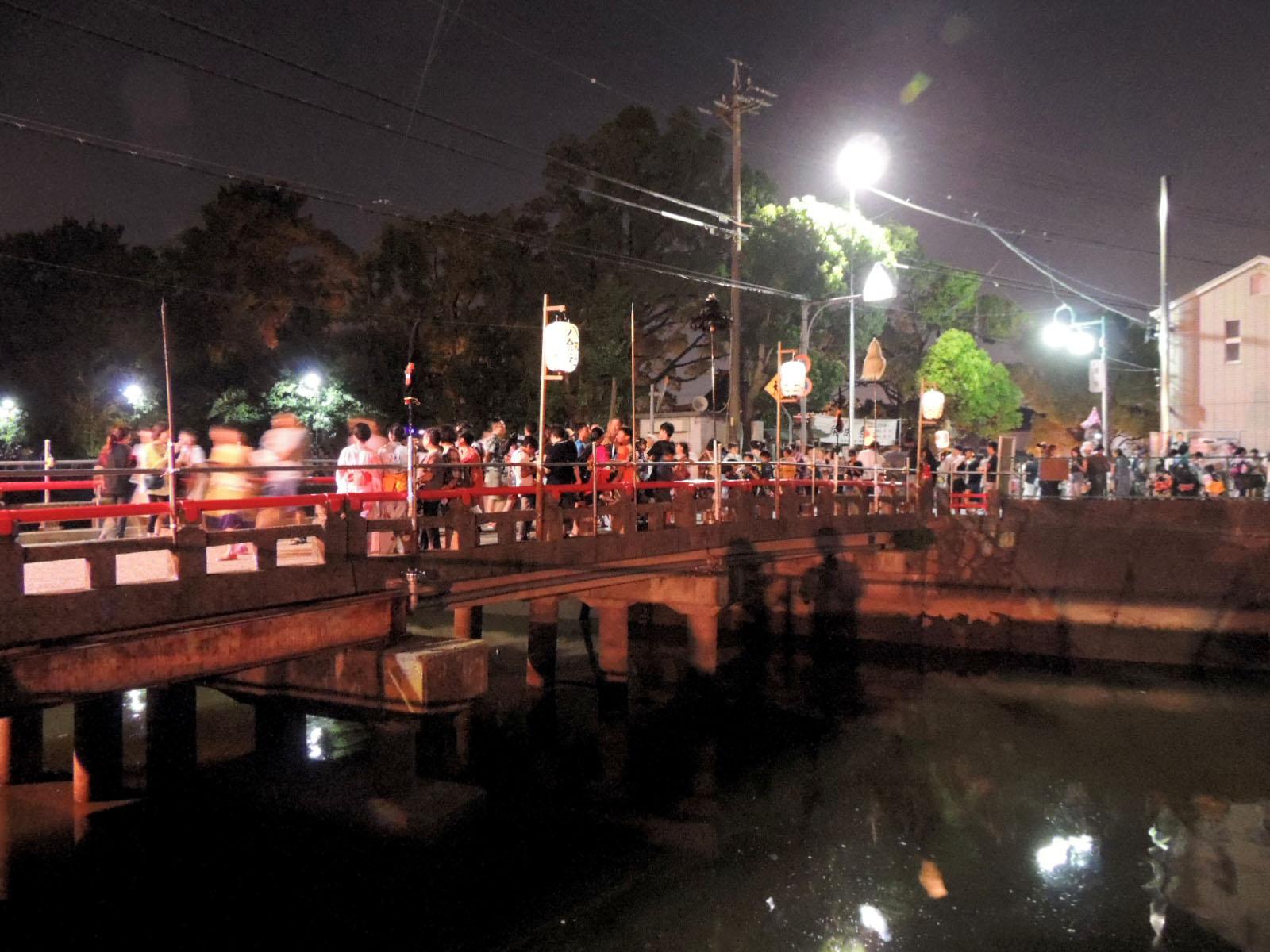 Sunari festival eve Tenno Bridge